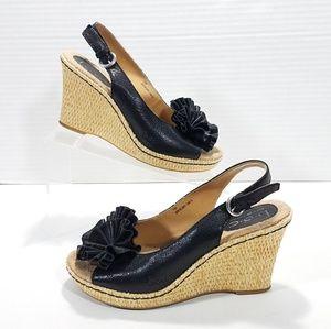 BOC Slingback Espadrille Wedge Sandals Size 7 Med